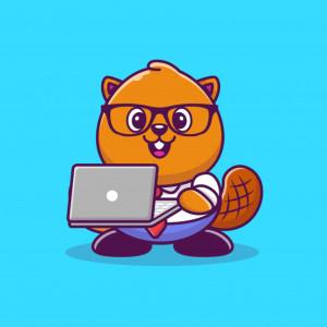 castoro-sveglio-con-l-illustrazione-dell-icona-del-fumetto-del-computer-portatile-stile-cartone-animato-piatto_138676-1221